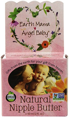 Earth Mama Angel Baby Natural Nipple Butter, 2-ounce Jar (Pack
