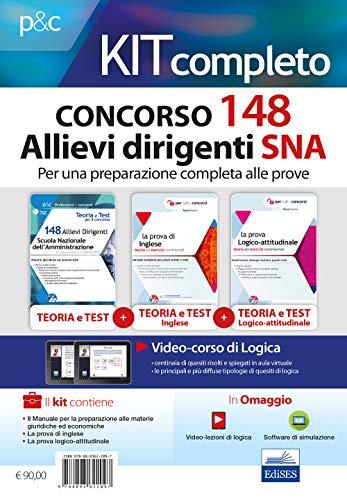Kit completo concorso 148 Allievi Dirigenti SNA (Scuola Nazionale dell'Amministrazione). Con software di simulazione