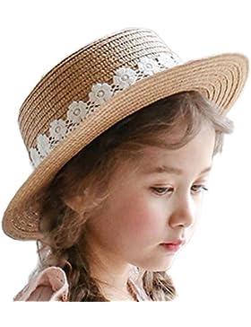 lumanuby Mujer Sombrero klassic sombrero de paja con punta para Süße Niño Niña Bucket sombrero