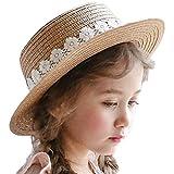 Lumanuby Sombrero de mujer Klassic, sombrero de paja con punta para niño o niña