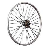 Taylor-Wheels 26 Zoll Hinterrad YAK19 mit 7fach Shimano Schraubkranz - Silber