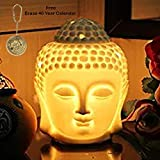 Kartique Buddha Electric Diffuser With Dimmer Switch To Control Fragrance And Light Intensity,Height-5.5 Inch- 1 Bulb & 1 Bottles Of Essential Oil