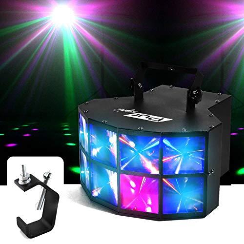 Jeu de lumière effet Derby à LEDs 4x3W RGBW DMX Pur Light Cleveland + Fixation Portique