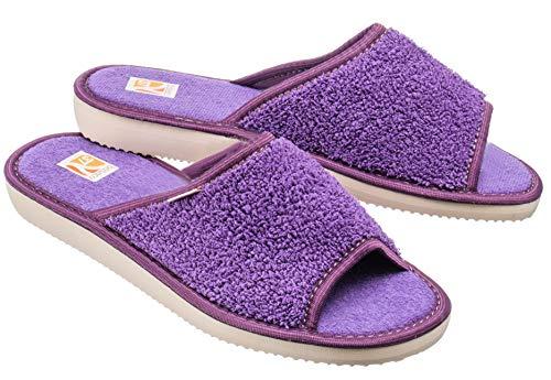 Bosaco esclusive pantofole donne (37, bath viola 1)