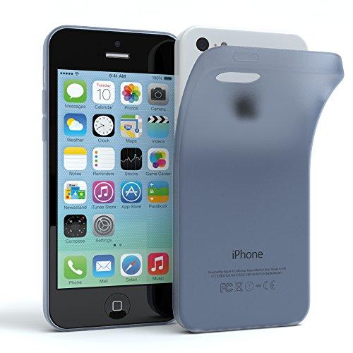 "Apple iPhone 5C Hülle, EAZY CASE Ultra Slim Cover ""Clear"" - Premium Handyhülle Transparente Schutzhülle, Smartphone Case in Transparent Matt Dunkelblau"