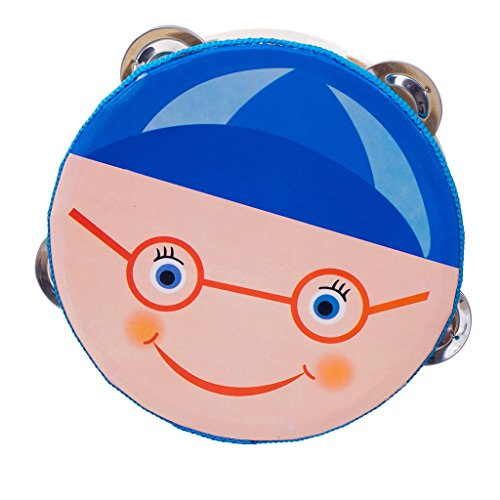 Imported Educational Toy Musical Tambourine Beat Instrument Hand Drum Blue  available at amazon for Rs.455