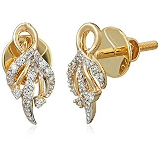 Senco Gold 14KT Yellow Gold and Diamond Stud Earrings for Women (DT-D000123777)