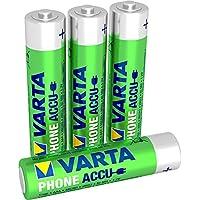 Varta Phone Accu Micro NiMh Akku (AAA 4er Pack, 800 mAh, geeignet für schnurlose Telefone, wiederaufladbar ohne Memory-Effekt - sofort einsatzbereit)