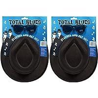 2 x totalmente blues soul FASCIA Gangster Cappelli & OCCHIALI accessorio per costume