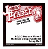 John Pearse 5205M Jeu de cordes de Bouzouki irlandais Naturel