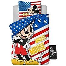 Funda nórdica + Almohada Disney Mickey Ratón U.S.A. 100% algodón