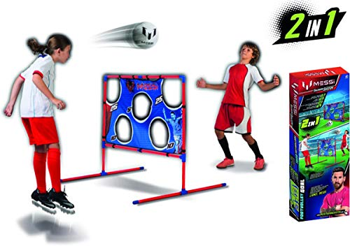 e01c45993 Messi Training System Large Soccer Goal Net and Ball 3 Piece Set - 2 in 1  Foldable Target Practice Soccer Training Equipment for Kids - Includes Size  2 ...