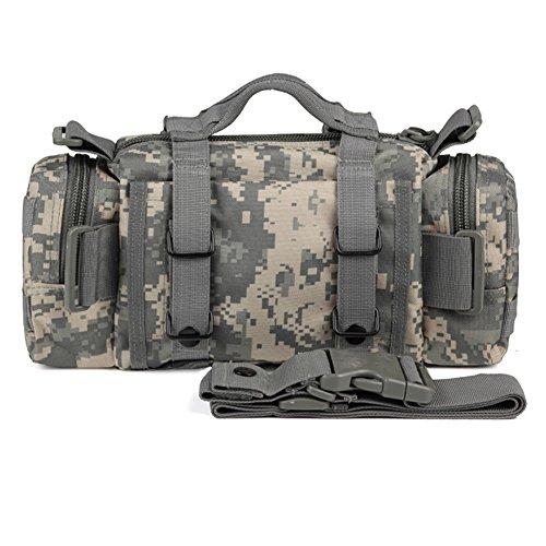 YAAGLE Aufrückend Outdoor Zauberei Gürteltasche Hüfttasche 3P Brustbeutel militärisch Bergsteigen Taschen Sporttasche Fahrradrucksack-khaki Tarnung 1