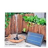 HUANGYABO Garten-Dekoration Mini Solarbetriebene Solar Panel Brunnen Pool Garten Bewässerung Garten
