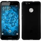 PhoneNatic Case für Huawei Nova Hülle Silikon schwarz matt Cover Nova Tasche + 2 Schutzfolien