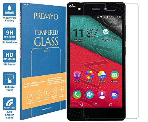 PREMYO Panzerglas Schutzglas Bildschirmschutzfolie Folie kompatibel für Wiko Pulp 4G Blasenfrei HD-Klar 9H 2,5D Gegen Kratzer Fingerabdrücke