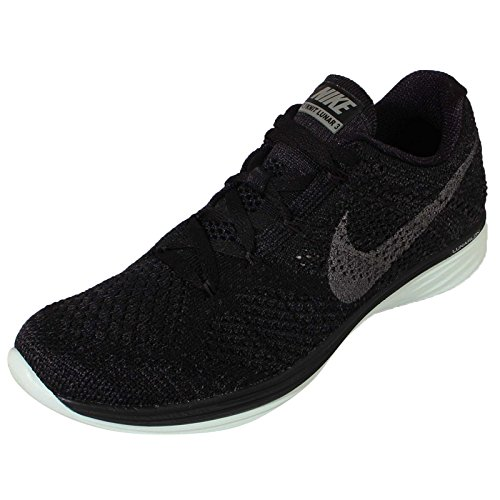 Nike Wmns Flyknit Lunar3 Lb, Scarpe da Corsa Donna Nero (Negro (Blk / Mtlc Pwtr-Anthrct-Brly Grn))