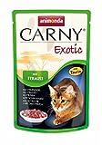 animonda Carny Exotic Katzenfutter, Nassfutter für erwachsene Katzen, mit Strauß, 12 x 85 g