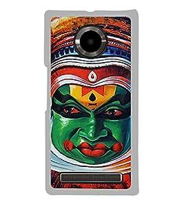 Kathakkali Dance Face mask 2D Hard Polycarbonate Designer Back Case Cover for YU Yuphoria :: YU Yuphoria YU5010