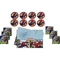Marvel Spiderman–Niños Fiesta/Cumpleaños/Fiesta temática Set/accesorios/Decoración de servilletas, Mantel, plato grande