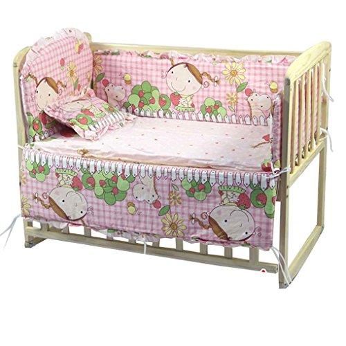 Coddington 5pcs Baby-Bett-Bumpers aus Reiner Baumwolle Baby-Bettwäsche-Satz Newborn Karikatur druckt Krippe Zaun-Schutz für Kleinkind (Baby-bettwäsche-blatt-satz)