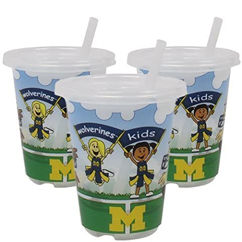 Michigan Wolverines To-Go Sippy Cup 3-Pack by Baby Fanatic