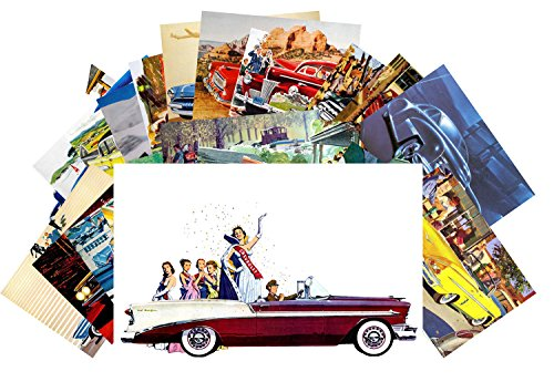 carte-postale-24pcs-classic-cars-vintage-posters-advert-american-fifties-chevy-ford-dodge