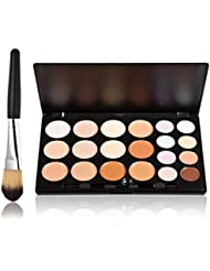 LEORX Gesicht Kontur Kit Highlighter Make-up Kit 20 Creme Concealer Farbpalette mit Pinsel