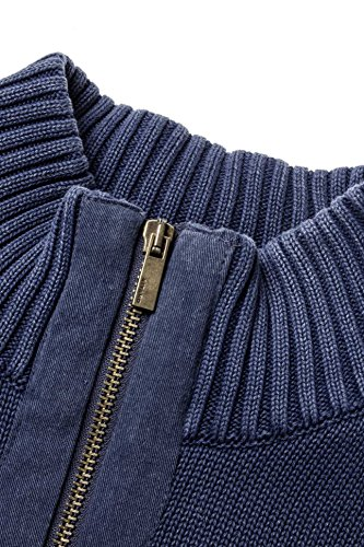 Kitaro Herren Pullover Strickjacke TALL REBELS OF ROCK Blau