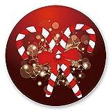 Tappeto antisdrucciolevole della moquette di pavimento di Flanella del tappeto rotondo di zona di Natale per la decorazione di festa della cucina del partito di casa