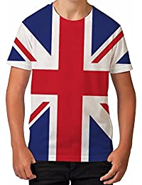 Bang Tidy Clothing Boy's T Shirt All Over Print Union Jack Flag Summer Clothes Printed Top