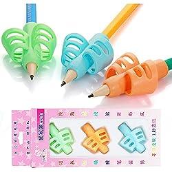 Pencil Grip, Yuccer Universal Agarres para Lápices Silicone Agarre Para Escritura Writing Posture Correction, 3 piezas