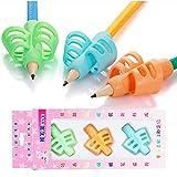 Yuccer Professionel Guide Doigt Ergonomiques Grips Pour Crayon Silicone Posture Correction Pencil Grip Aide Ecriture, Set de 3...