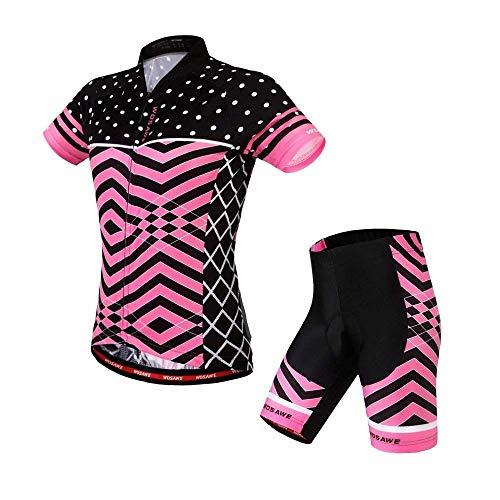 Per Da Corte Maniche Imbottiti Ciclismo Pantaloncini In Suit Gel Sportivo Donna Wosawe A 2016DonnaBlackpink Mtb 4dAbbigliamento E Maglia nwX8kPNO0
