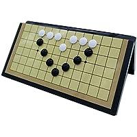 Go Game Reise Set Weiqi Set mit magnetischen Klappbrett Lernspiele für Kinder Erwachsene