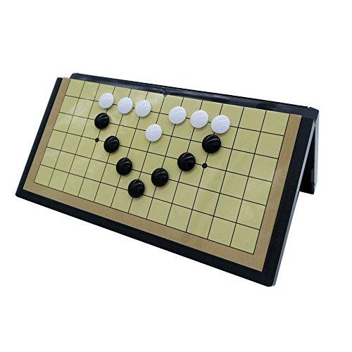 Solide Go-Spiel magnetisch, 20 x 20cm, 13 x 13 Lines, Go Reiseset / Klassisches Go / Weiqi Spielbrett mit magnetische Spielsteinen,Spielbrett dient gleichzeitig als Reisebox