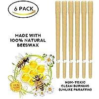 Preisvergleich für WAHUK Bio 100% natürliche Bienenwachs Ohrkerzen Set von 6 - mit 6 Schutzscheibe