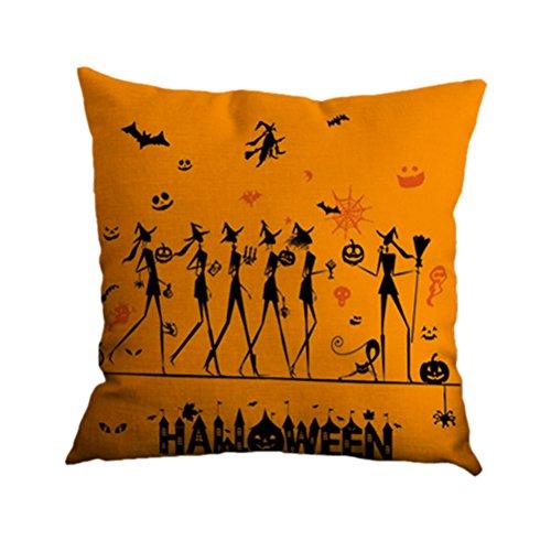 Amybria Startseite Sofa Dekor Kissenbezug Hexe Katzen Kürbis Halloween Kissenbezug 23