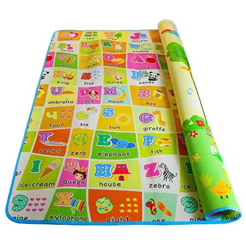 Alea Baby Tappeti per Bambini Gattonamento - Tappetino Neonato Grande e Morbido per Gattonare 180x150cm(L) Tappeto Neonati Bambina e Bambino Camerette
