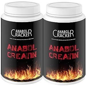 2X Anabol Creatin, 500g Kreatin Monohydrat Pulver, reinstes Kreatin/Pur mit Taurin