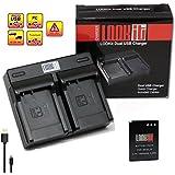LOOkit Dual Chargeur + 1x LOOKit Batterie EN-EL12 /1050mAh pour Nikon A900 Nikon KEYMISSION 170, KEYMISSION 360 Nikon S9900, Nikon AW130, Nikon AW120, P340, Nikon S9700 , Nikon S9600, Nikon P330, Nikon AW110, S31, S9500, S9400, S9300 S31 S800c S9100 S8000 S8100 S8200 P300 P310 P330 S6150 S6200 S1200pj AW100 AW110