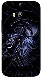Timpax protective Armor Hard Bumper Back Case Cover. Multicolor printed on 3 Dimensional case with latest & finest graphic design art. Compatible with only HTC - M8. Design No :TDZ-20069