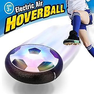 SeeKool Air Power Fußball Indoor Fußball Kinder Hover Ball mit LED Beleuchtung, Sport Spiel Spielzeug mit Möbelschutz, Innen Aktivität Outdoor Training, Weihnachts/Geburtstag Geschenk Jungen Mädchen