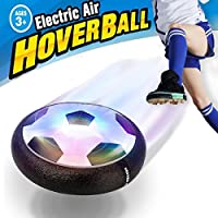 VIDEN Hover Ball Air Power Soccer Disc Kids Sports Toys Pneumatic Suspended Floating Hockey Football, Foam Bumpers and LED Lights, Gliding Training Ball for Boys Girls Children Toys Christmas Gift