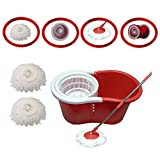 #10: Xensa Red 360 Degree Spin Easy Mop