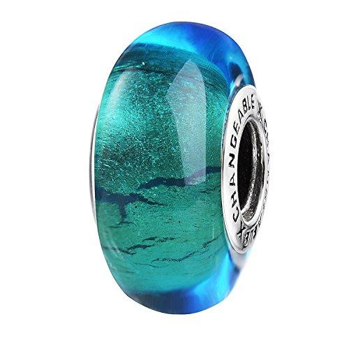 CHANGEABLE Damen Muranoglas Charm Sterling-Silber 925