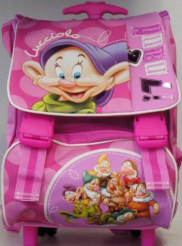 Zaino Scuola Trolley Estensibile deluxe I 7 Nani Disney Giochi Preziosi
