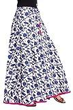 Kastiel Cotton Blue Printed Women's Regular Flared Skirt