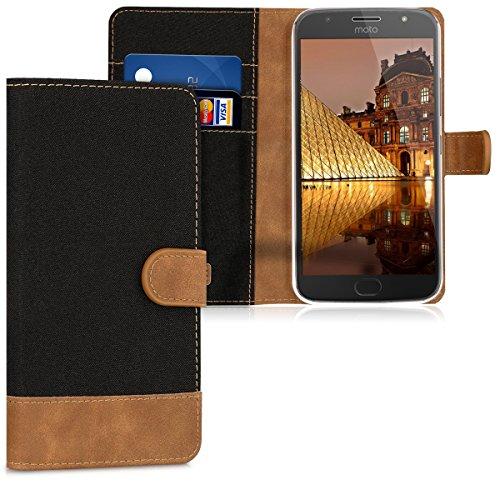 kwmobile Motorola Moto G5S Plus Hülle - Kunstleder Wallet Case für Motorola Moto G5S Plus mit Kartenfächern und Stand