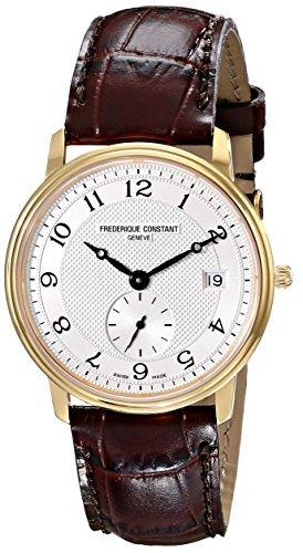 Frederique Constant Men's FC-245AS4S5 Slim Line Dark Brown Leather Strap Watch by Frederique Constant